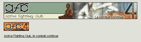 Exemples de formats de publicité : 468x60 ; 88x31 ; lien texte