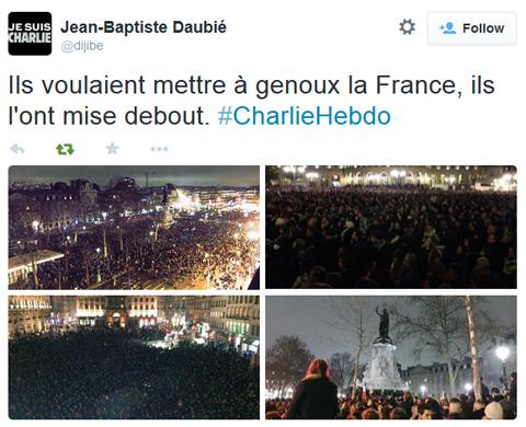 """""""Ils voulaient mettre la France à genoux, ils l'ont mise debout."""""""
